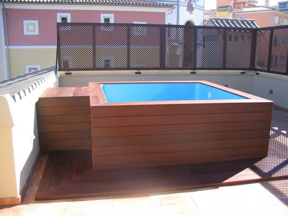 Mini piscina c 2 codetrac s l expertos en piscinas for Construir alberca en azotea